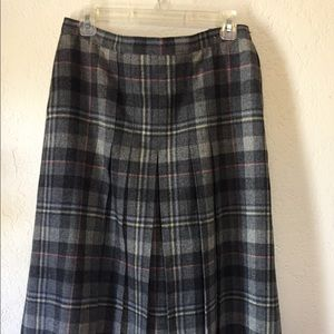 Skirt PENDLETON 100% Wool Gray Multicolored